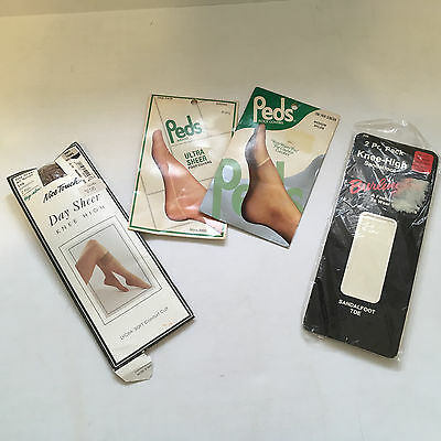 vintage peds toe protector foot covers nice touch day sheer knee high