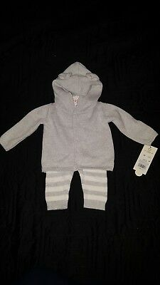 f7675f75a BABY ORGANIC SWEATER Hoodie w  Ears and Pants Set by Cat   Jack ...