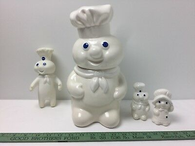Pillsbury Doughboy Cookie Jar-S&P Shakers-Doll-'88,'69 & '71-So Cute