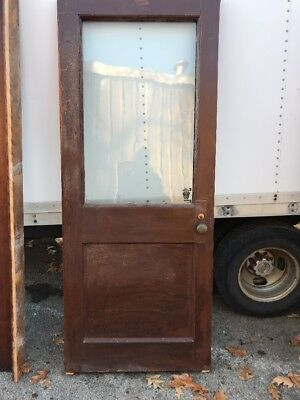 Hol 3 Antique Oak Entrance Door 32 5/8 X 82.5