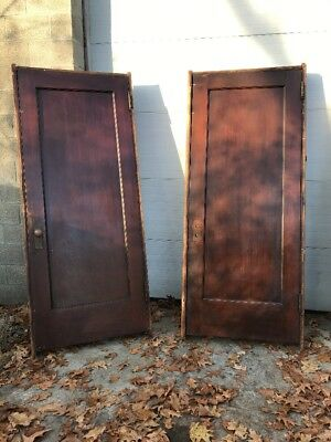 HOL 5 2  available price each antique Birch passage door with jam 37 x 86.5