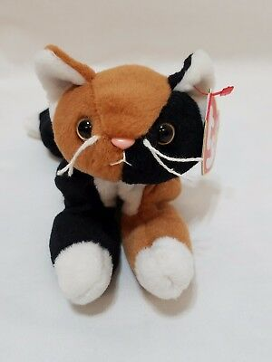 TY Beanie Baby - CHIP the Calico Cat (8 inch) - Stuffed Animal Toy