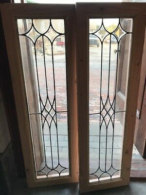 SG 1691 2available price separate antique side light or transom window 14.5 x 46