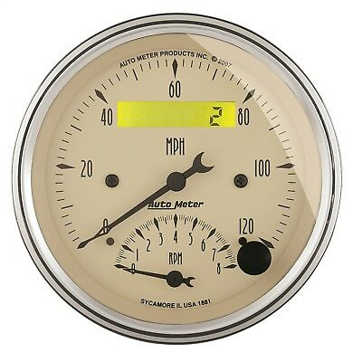 "AutoMeter 1881 Antique Beige Tach/Speedo Combo 3 3/8"" 120 MPH 8000 RPM"
