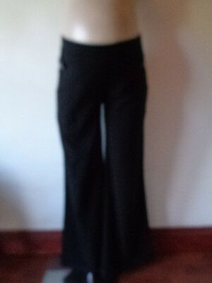 New Look Smart Black Under Bump Maternity Work Trousers Size 12