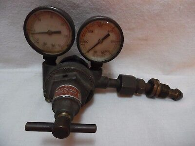 Vtg. National Cylinder Gas Company Acetylene Gauge Chicago, Ill. - For Display