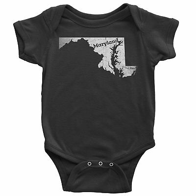 Nyc Factory Maryland Baby Bodysuit Home Shirt maryland-baby-bodysuit-black-6m
