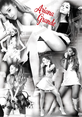 Ariana Grande Poster B&w Wall Art Poster A4 / A3 Size 200 Gsm Gloss Paper