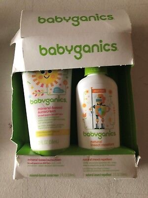 Babyganics Mineral-Based SPF 50+ Sunscreen, 2 Ounce + Natural Insect Repellent,