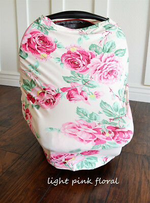 Nursing Cover Breastfeeding Baby Car Seat Canopy Maternity Pink Floral 4 in 1