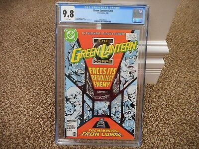 Green Lantern Corps 204 cgc 9.8 DC 1986 Man in the Iron Lung MINT WHITE pgs JLA