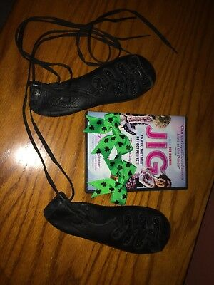 Antonio Pacelli Irish Dance Gazelle Shoes Size 3 1/2 UK Plus Jig Movie and Bows