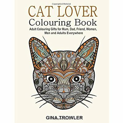 Cat Lover Adult Colouring Book Pets Animal Grown Up Art Craft Stress Paperback
