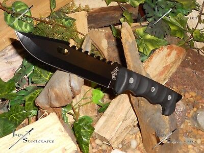 """Master USA/Knife/Bowie/Blade/Full Tang/440 SS/Survival/Combat/Camping/12""""+/BK"""
