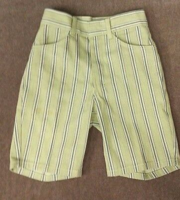 Vintage 70's Shorts by Mann Green Blue stripe Boys Size M