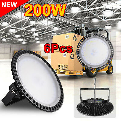 6X 200W LED High Bay Light Commercial Warehouse Industrial Factory Shed AU STOCK