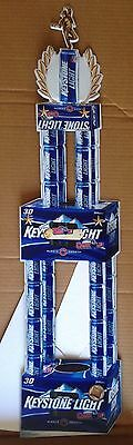 """Keystone Light Beer Metal Sign Stand Up with Easel """"BIG MAN OF CANHOLE"""" LAST ONE"""