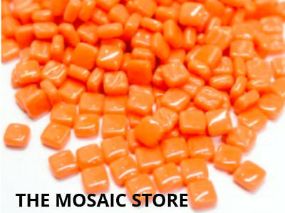 Mandarin Orange 8mm Mosaic Glass Tiles - Art & Craft Supplies