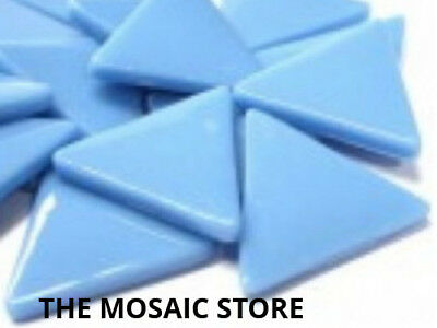 Large Turquoise Blue Glass Triangles - Mosaic Art Craft Tiles Supplies
