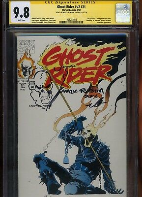 Ghost Rider #v2 #21 CGC 9.8 SS Mark Texeira SKETCHED remarked 1992