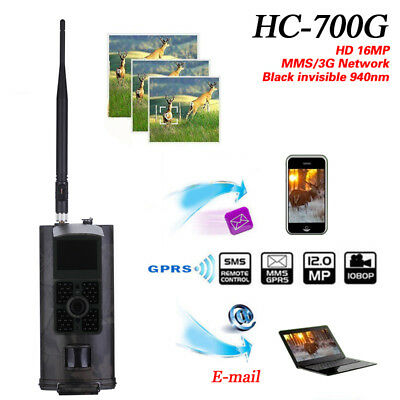 HC700G Hunting Camera 16MP 1080P Trail Cameras Trap 3G GPRS MMS SMS Equip Lot