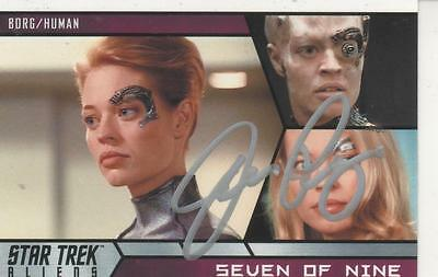 "Jeri Ryan Signed 2014 ""Star Trek"" Aliens #47 - Seven Of Nine"