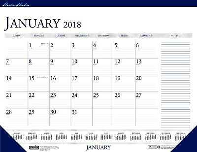 House of Doolittle 2018 Monthly Desk Pad Calendar, Classic With Notes Section, 2