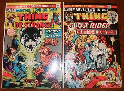 Marvel Two-In-One 6 8 Bronze Age lot Doctor Strange Ghost Rider Thing 1974