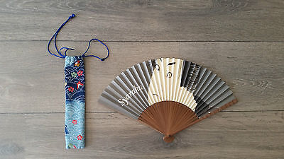 NEW NEVER USED Japanese Syaraku Paper Hand Fans Souvenir Bought in Tokyo RRP$80
