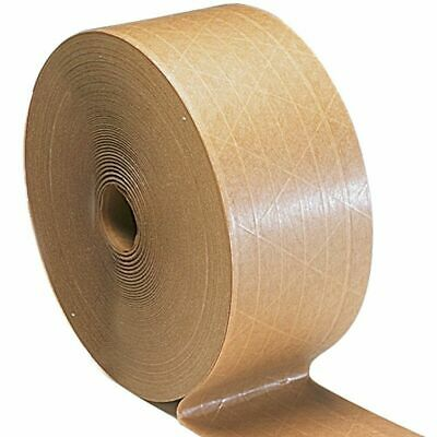 """50 Rolls Central 3""""x600' Non Reinforced Gummed Kraft Paper Tape Water Activated"""