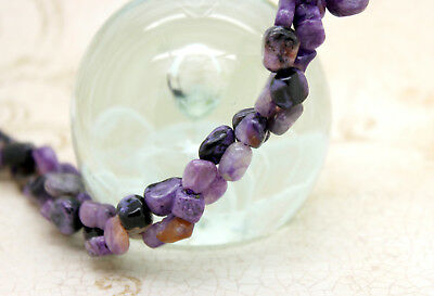 Charoite Pebble Chips Nugget Free Form Natural Gemstone Beads - Full Strand