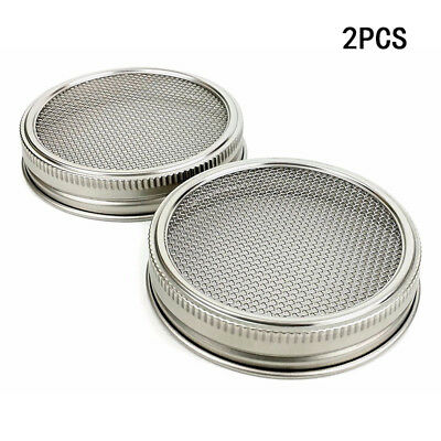 2pcs Steel Strainer Sprouting Lid for Jar Sprout Kitchen Dining Decor Home Tools