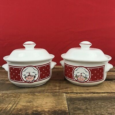VINTAGE Campbells Soup Bowls with Handles and Lids Boy & Girl EUC ...