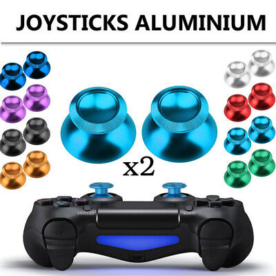 2* Joystick Cap Analog For PS4 Xbox One Replacement Thumb stick Cover Metal New