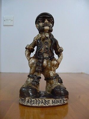 "Welsh Studio Pottery Figurine Of ""the Aberdare Miner""."