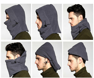 Mens Winter Hats Balaclava Neck Warmer Unisex Motorcycle Beanies Cap Face Mask