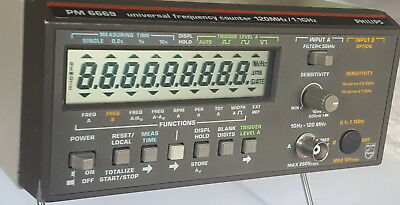 Fluke Philips PM 6669 120 MHz Frequenzzähler, universal frequency counter