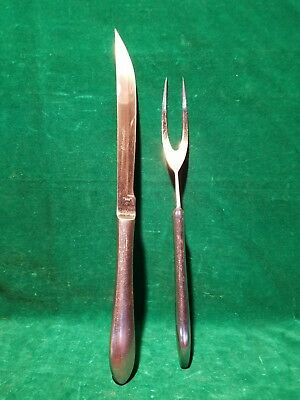 "Vintage Silhovette Heavy Stainless  Steel ""Japan"" Carving Set silhovette"