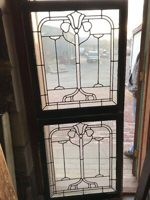 SG 1696 2available priced each antique floral design landing window 30.5 x 30 5H