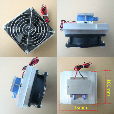 12V 50W Semiconductor Refrigeration Thermoelectric Peltier Water Cooling Device