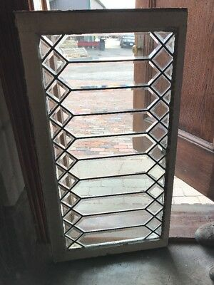 Sg 1706 Antique Geometric All Beveled Glass Transom Window 21.5 X 40.5