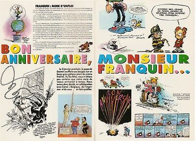 Spirou 2907 Hommage à Franquin Gaston Lagaffe Tibet Dany Cosey Hardy 1993