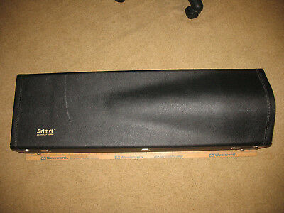 Selmer Trombone Hard Case EXCELLENT w/aluminum cleaning rod made in USA ~L@@K~