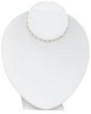 Jewelry Display Fixtures NEW WHITE LEATHERETTE DISPLAY ON ADJUSTABLE STAND