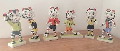 Rare Lorna Bailey Set of Football Cats