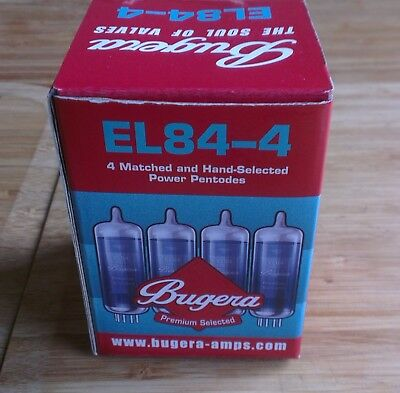 EL84 Bugera Matched Quad Set (4 Valves) - New & Boxed