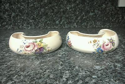 Bygone / Vintage Axe Vale Pottery Devon England horse shoe shaped troughs
