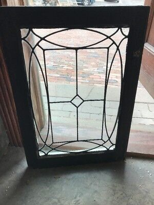 SG 1714 antique leaded glass window 20.25 x 29