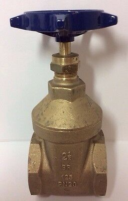 "Pegler Bronze Full Way 2.5"" Gate Valve PN20 Industrial Commercial Plumbing NEW"