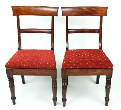 A pair of William IV Mahogany Bar Back Chairs - FREE Shipping [PL4104]